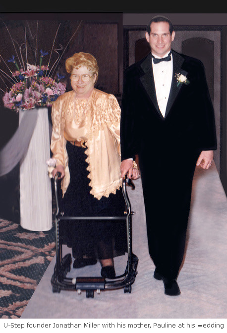 Ustep founder Jonathan Miller with his mother